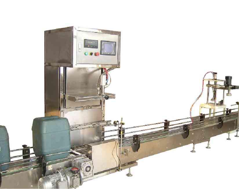 全自动称重式灌装机生产线